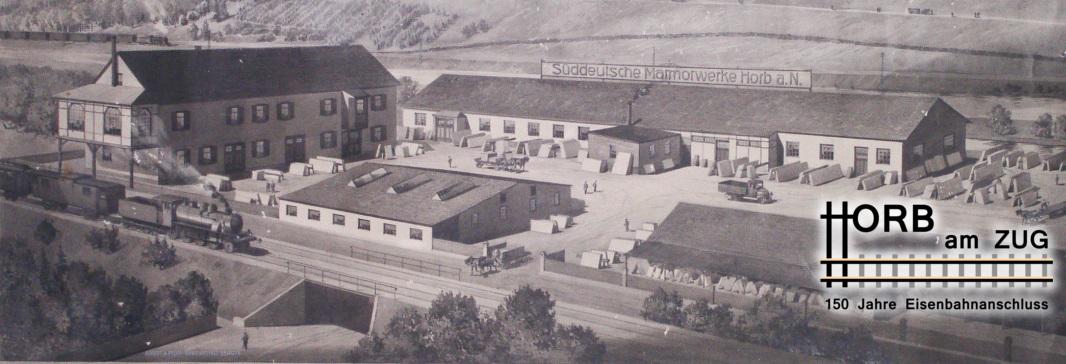 Horb am Zug Süddeutsche Marmorwerke um 1900