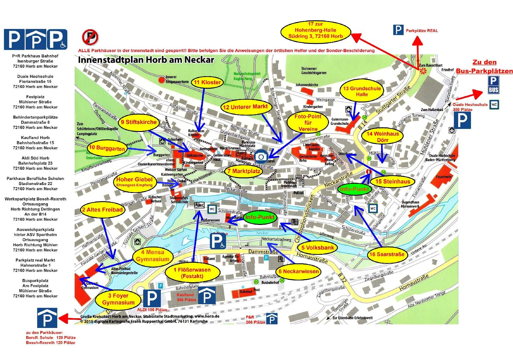 Stadtplan für LMF Bühnen