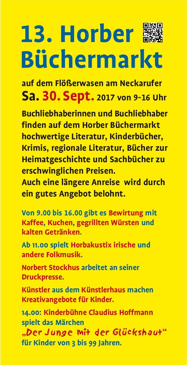Flyer Büchermarkt Horb 2017