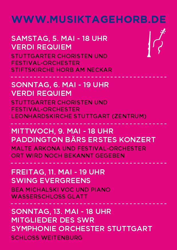 22. Musiktage Horb Postkarte Rueckseite