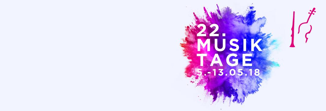 Banner Musiktage 2018