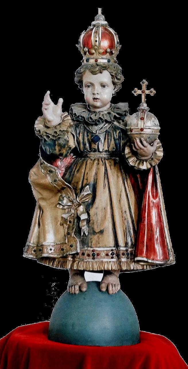Horber Erlöserlein - Segnender Jesusknabe in Prachtgewand und Herrscherpose war den Nonnen zugleich König und Kind.