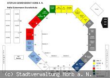 Sitzordnung im Gemeinderat Horb