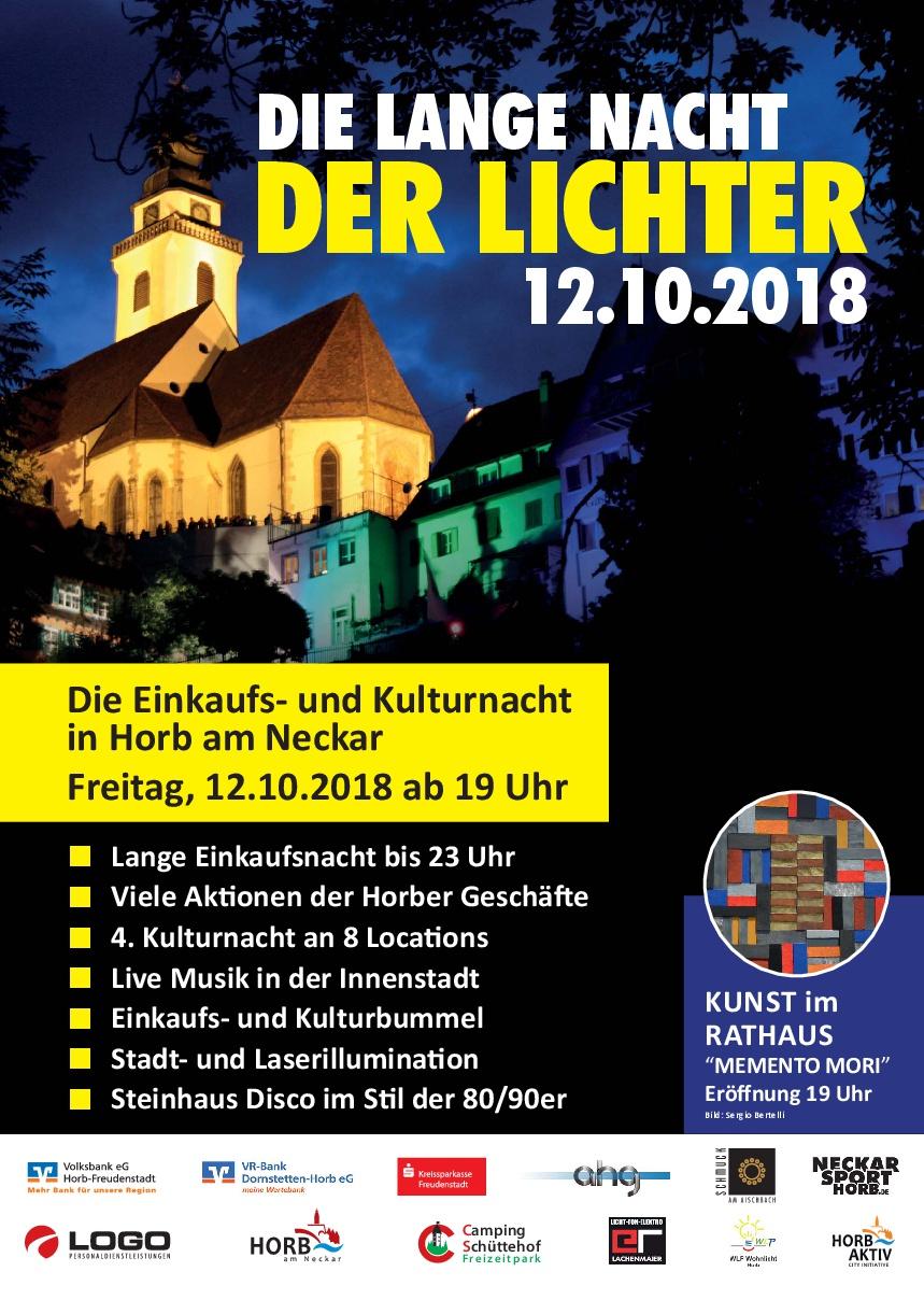 Lange Nacht der Lichter 2018 Plakate