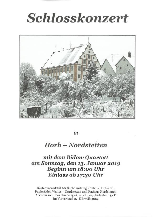 Schlosskonzert Nordstetten