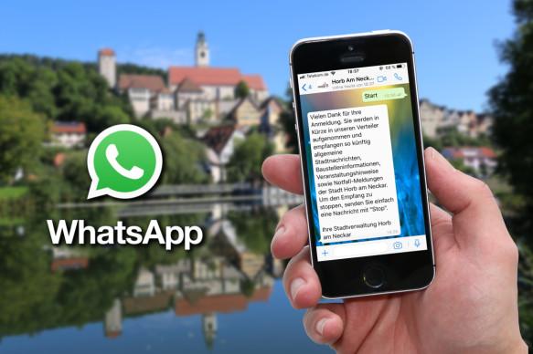 Nachrichten aus dem Horber Rathaus künftig direkt aufs Handy