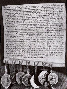 Stadtrechtsprivileg der Pfalzgrafen von Tübingen für Horb aus dem Jahr 1270