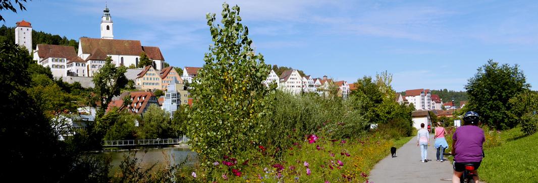Rad- und Wanderweg am Neckar