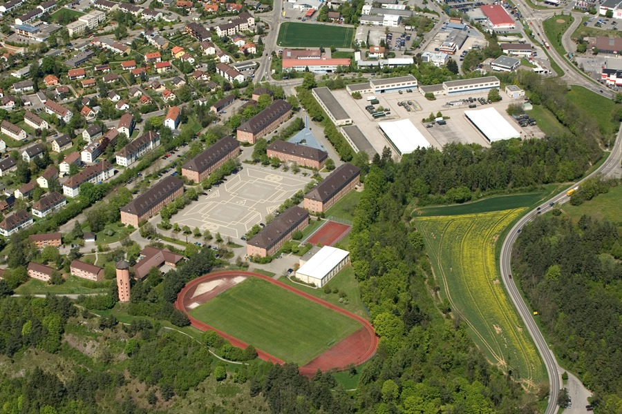 Luftbild Hohenbergkaserne Horb