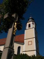 St.Peter Dettingen - Wegkreuz & Turm