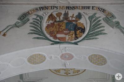 St. Peter Dettingen - Schaden Wappen Chorraum