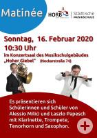 Plakat für Matinée im Hohen Giebel am Sonntag, 24.2.2019
