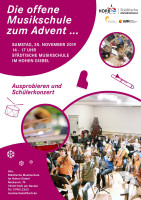"Plakat ""Die offene Musikschule im Advent 2019"""
