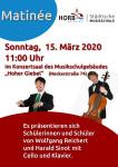 Plakat Matinée der Musikschule Horb am Sonntag, 15.3.2020