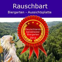 Deutschlands beliebtester Biergarten - Aussichtsplatte Rauschbart