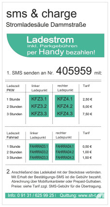 Stromladesäule SMS-Laden_Dammstraße
