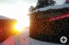 Die Sonnenscheinlichtung im Winter