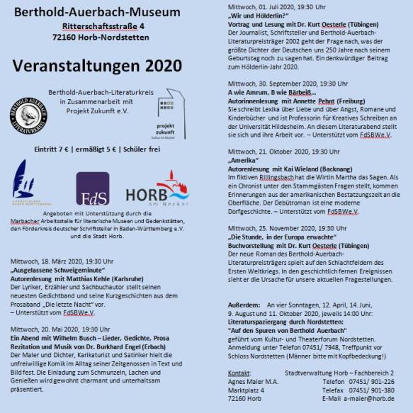 BAM Jahresprogramm