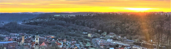 Sonnenaufgang über dem Neckartal