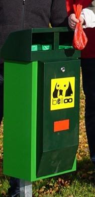 Bello-Station Hundekot gehört in die Tonne