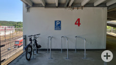 Radabstellanlage P+R Parkhaus Bahnhof