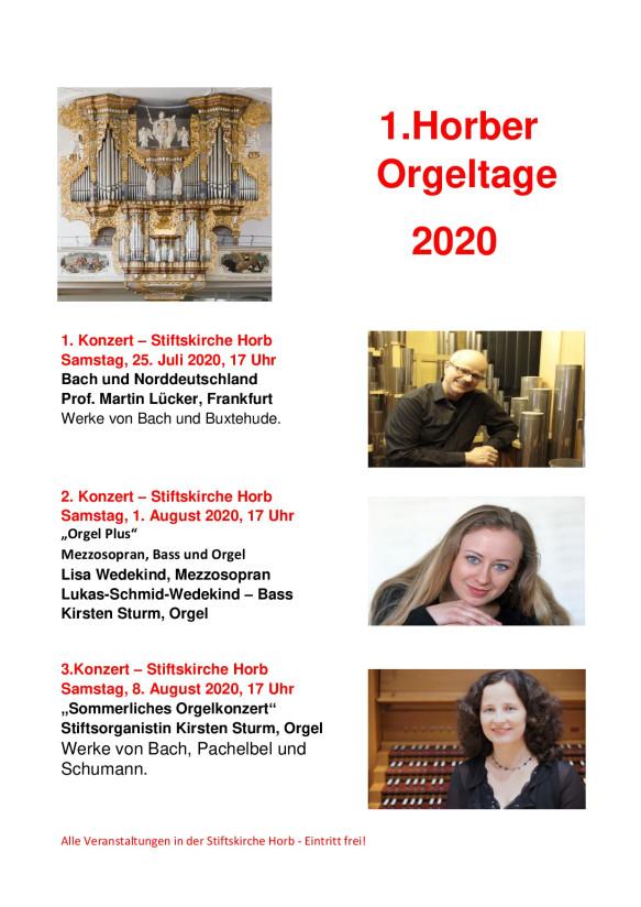 Orgelsommer Horb 2020