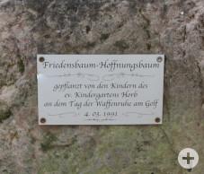FriedensbaumBeschilderung