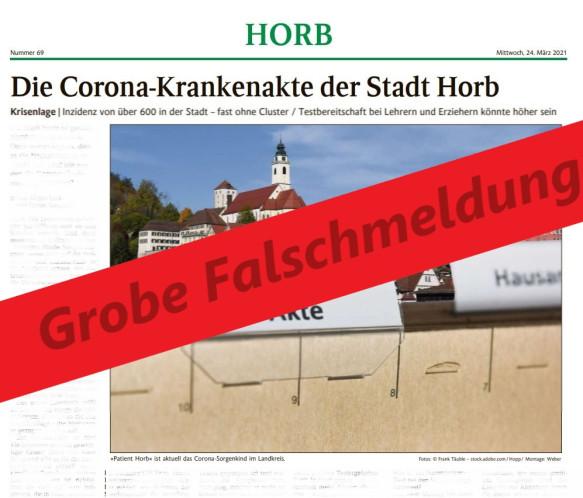 Falschmeldung im Schwarzwälder Bote vom 23.03.2021