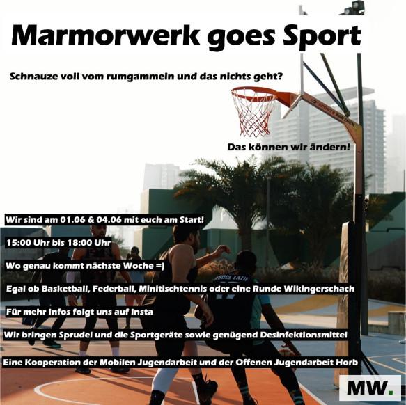Marmorwerk goes Sport