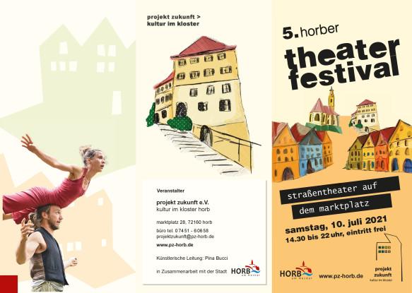 Flyer Theaterfestival Horb 2021 Seite 2