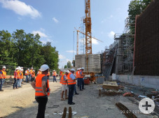 Baustellenbegehung_ Stützwände