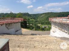 Baustellenbegehung Blick Richtung Rauschbart