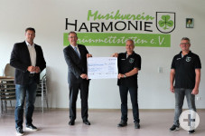 Spendenübergabe der NetzeBW an den MV Grünmettstetten