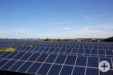 Mit einer Nennleistung von 3,2 Megawatt Peek ist der Solarpark Reute der größte Solarpark in Horb