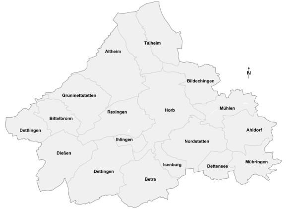 Horb und seine 17 Stadtteile
