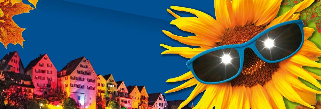 Unsere Stadt feiert! Banner