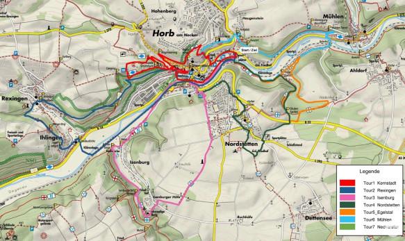 Übersicht über die Panorama-Walking-Touren